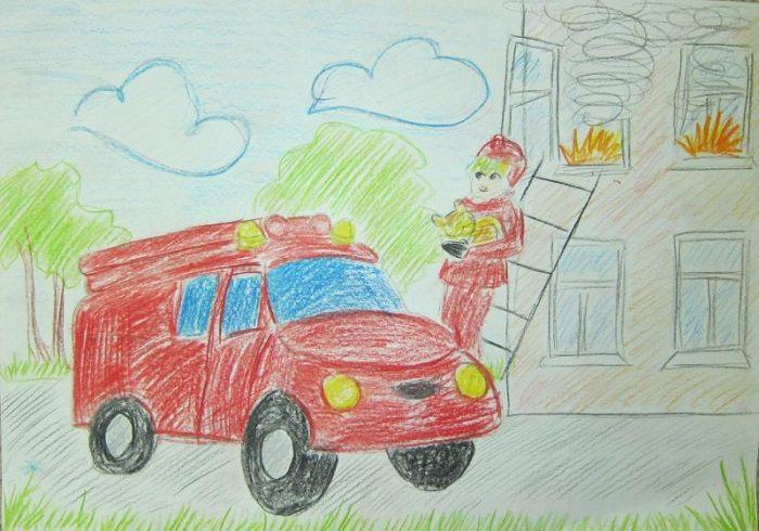 Картинка: Пожарная машина