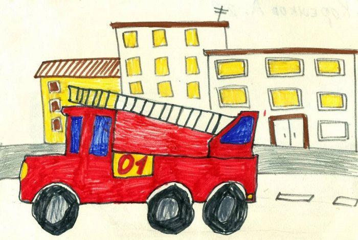Картинка с пожарной машиной