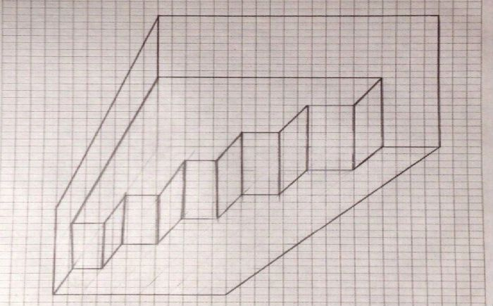 лестница клеточка - 5