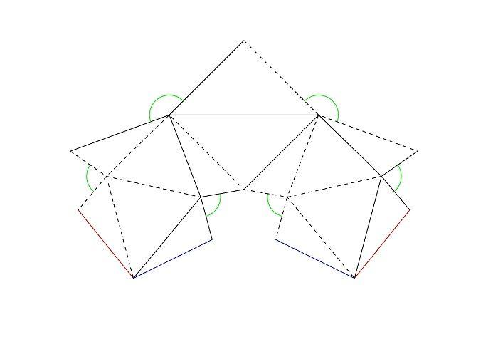 Макет многогранника из бумаги