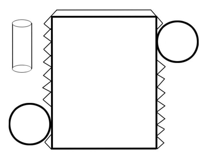 Макет объемного цилиндра