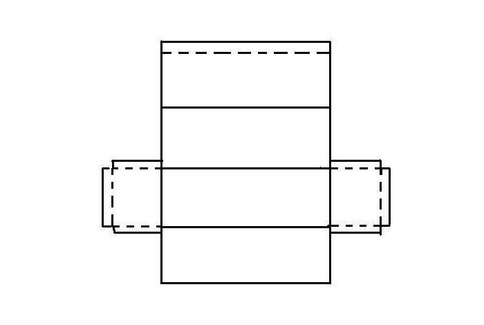 Макеты прямоугольника из бумаги