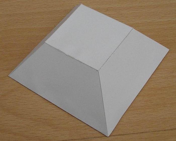 Объемная трапеция из бумаги