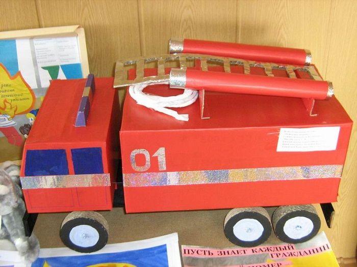 Поделки по пожарной безопасности из картона