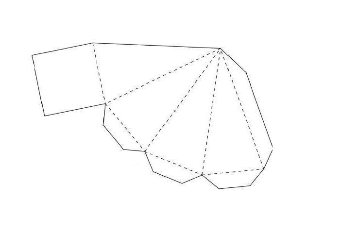 Развертка объемной пирамиды