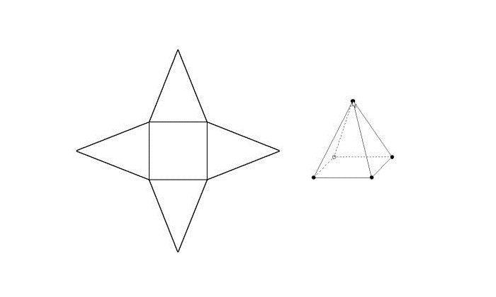 Развертка пирамиды из бумаги
