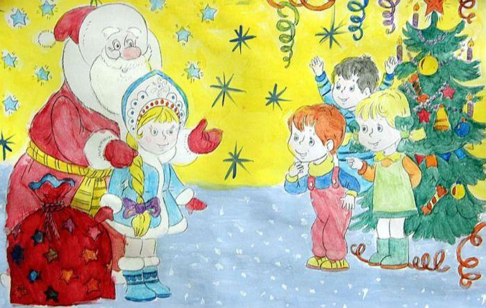 Новогодние рисунки фото