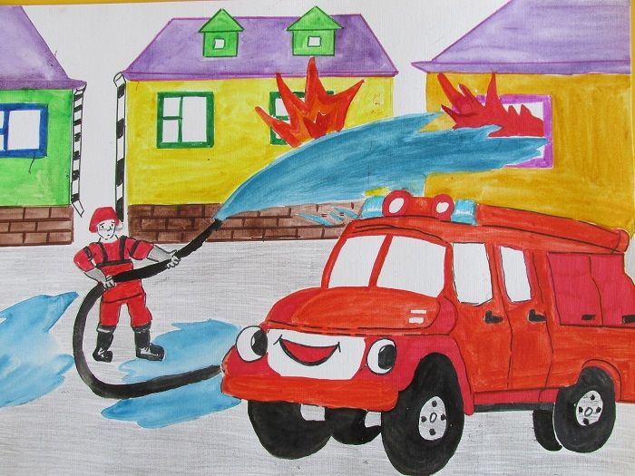 Рисунок пожара