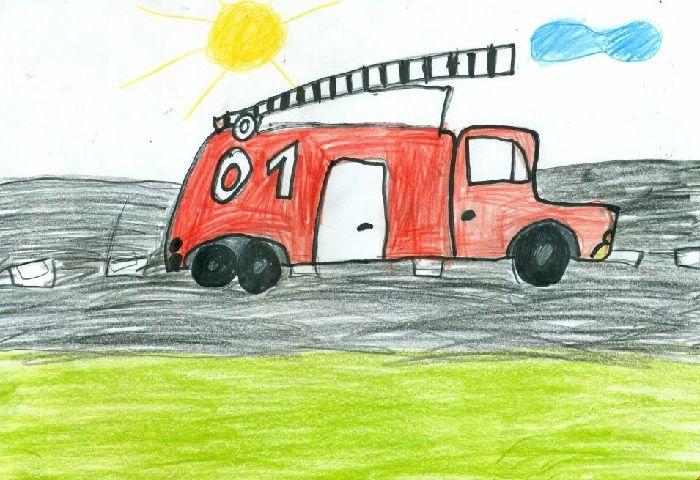 Рисунок: Пожарная машина