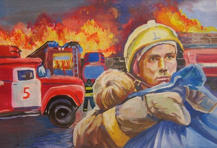 Рисунок: Пожарный