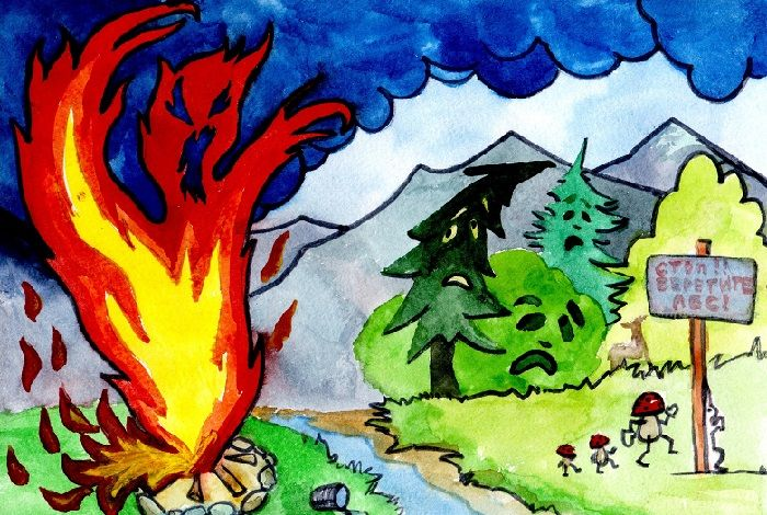 Рисунок: Спасем лес