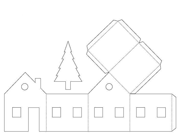 Шаблон бумажного дома