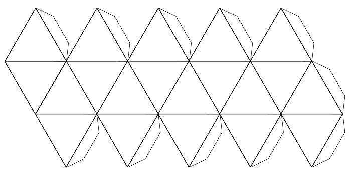 Шаблон многогранника из бумаги
