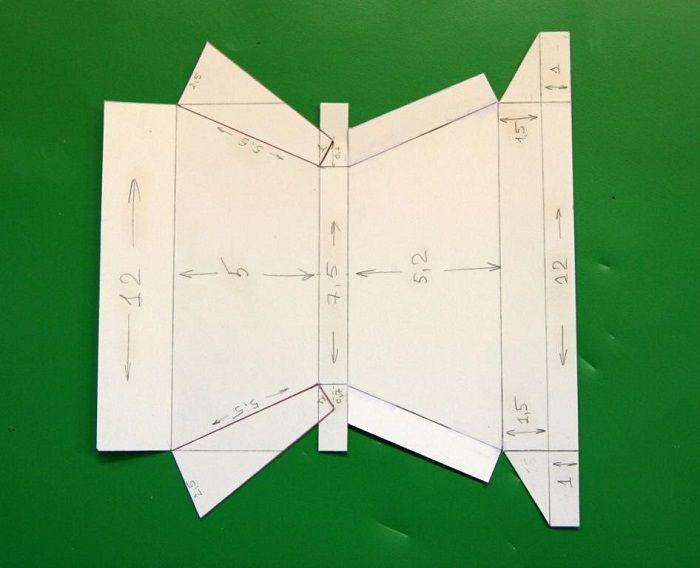 Шаблон трапеции из бумаги