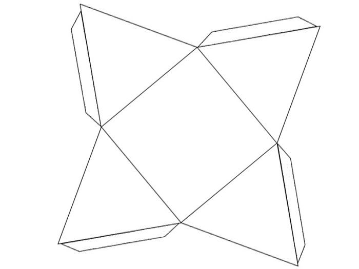 Шаблоны объемного треугольника