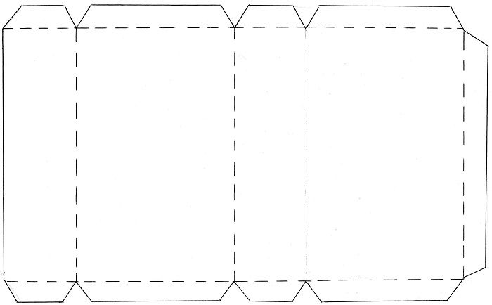 Шаблоны прямоугольника из бумаги