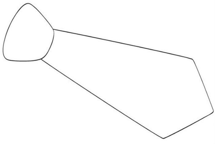 Шаблон для поделки галстука фото
