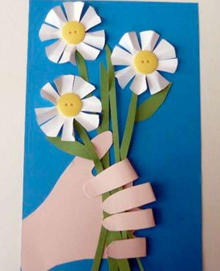 Рука с цветами фото