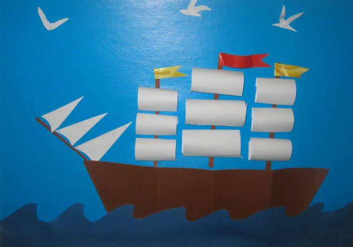 Аппликация Корабль фото