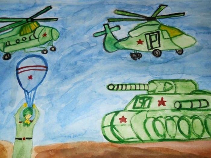 Детский рисунок 23 февраля фото