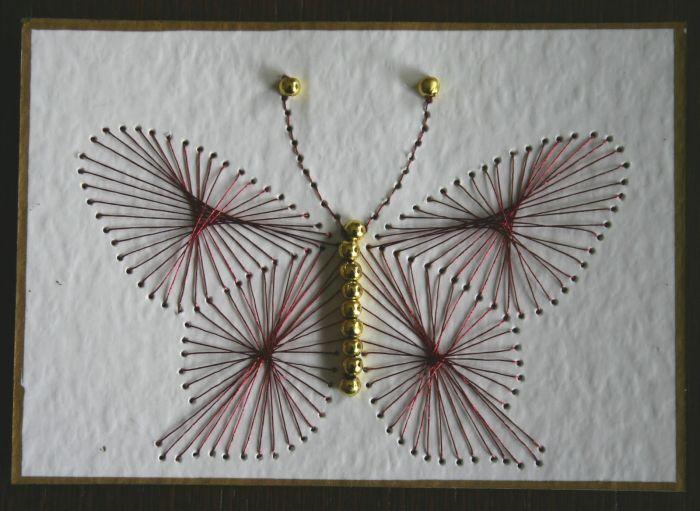 Бабочка изонить фото