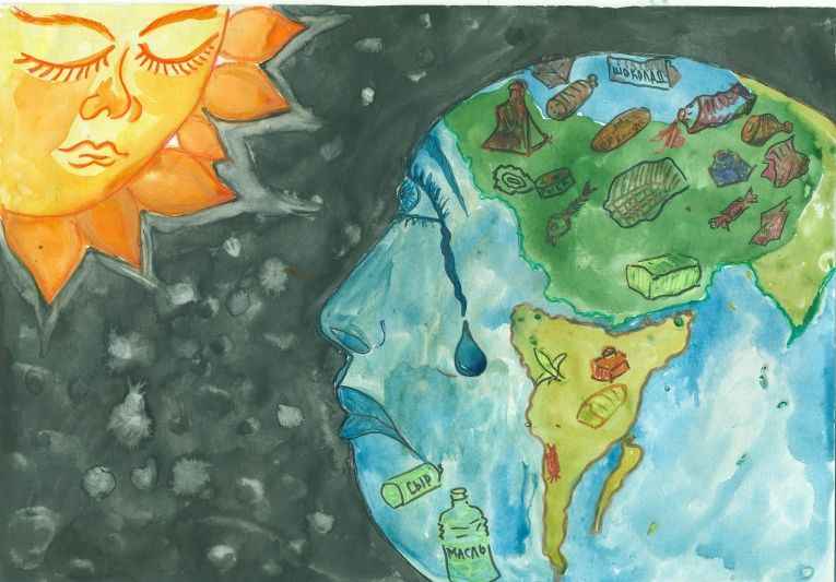 Береги планету от мусора рисунок 9 фото