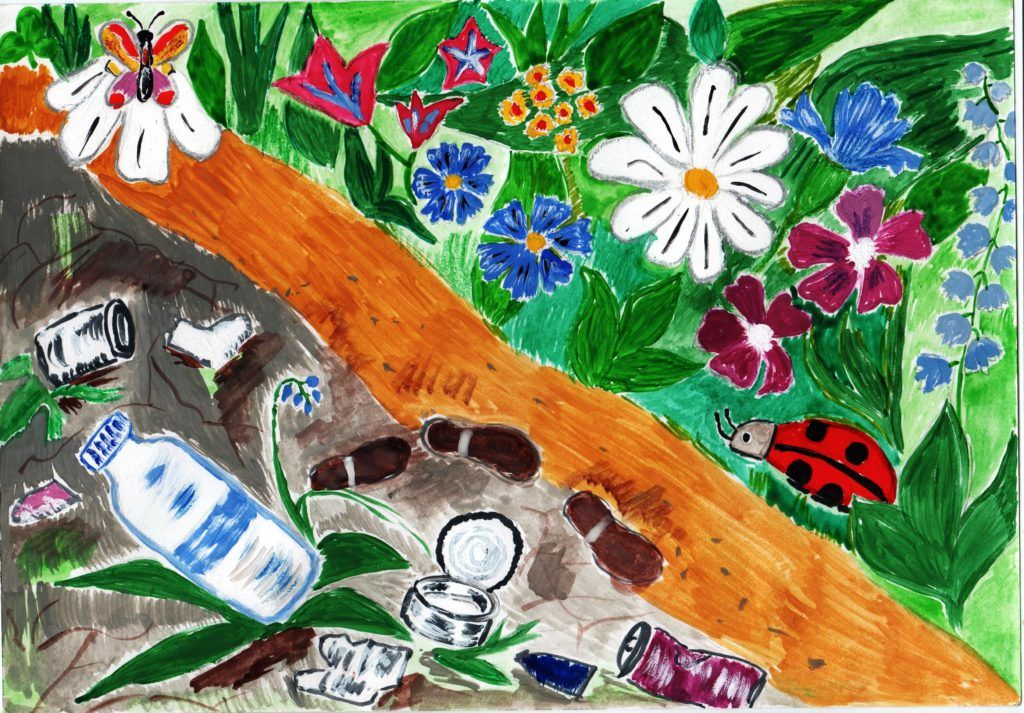 Береги планету от мусора рисунок 10 фото
