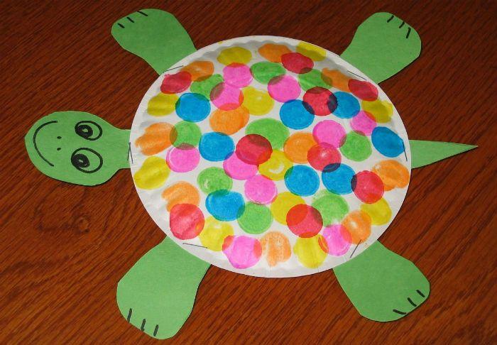 Аппликация черепаха фото