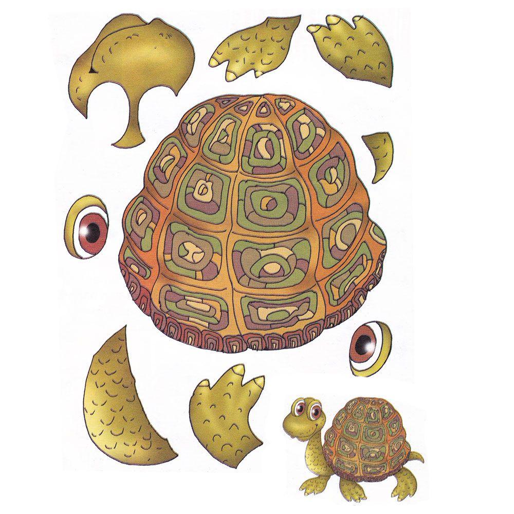Аппликация черепаха шаблон фото