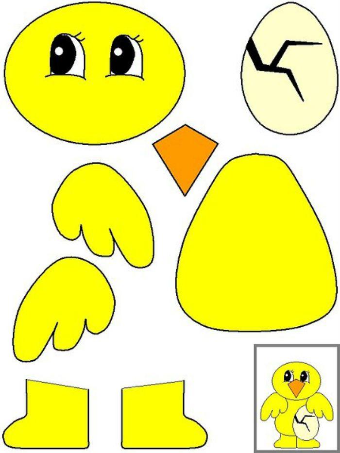 Аппликация цыпленок шаблон фото