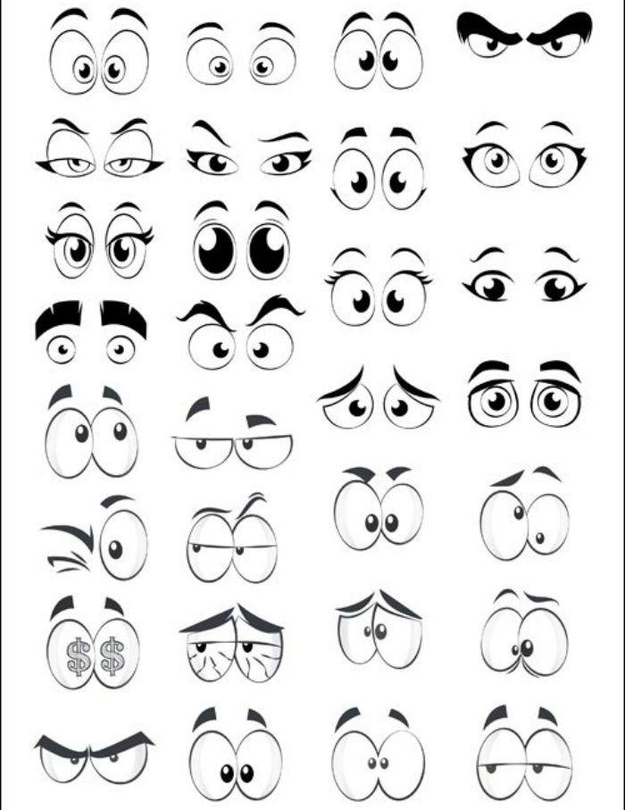 Глаза шаблон 3 фото