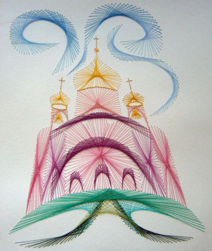 Храм изонить фото