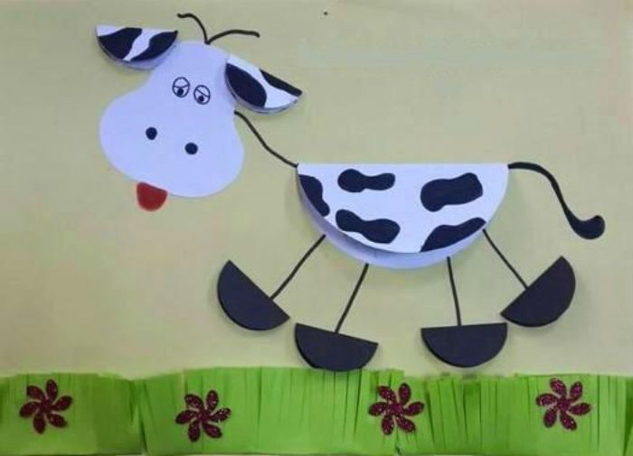 Аппликация корова фото