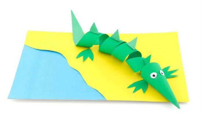 Аппликация крокодил фото
