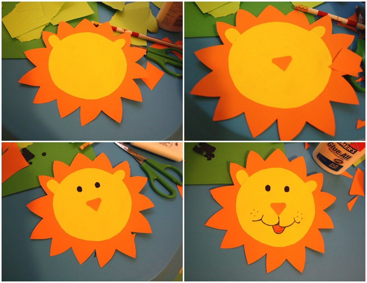 Аппликация лев-солнышко фото