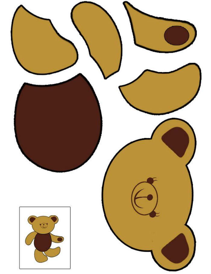 Аппликация медведь шаблон фото
