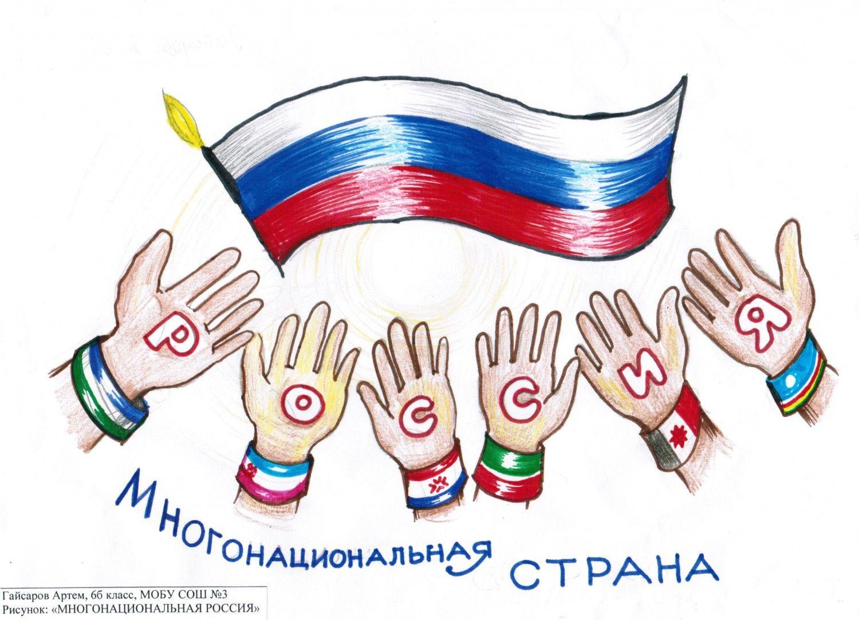 Многонациональная страна рисунок 1 фото