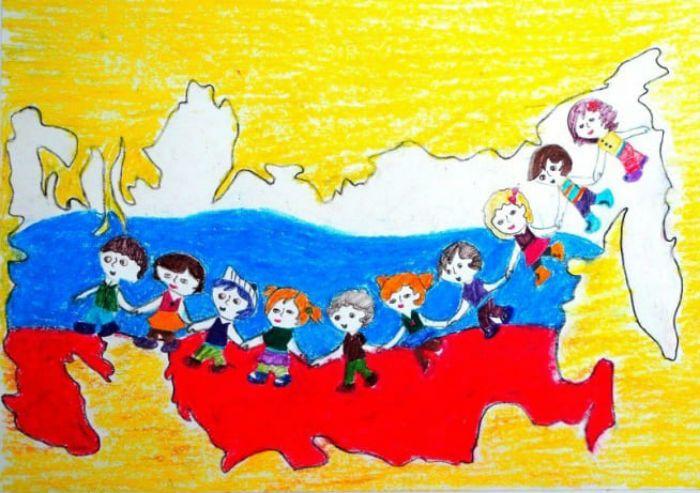 Многонациональная страна рисунок 5 фото