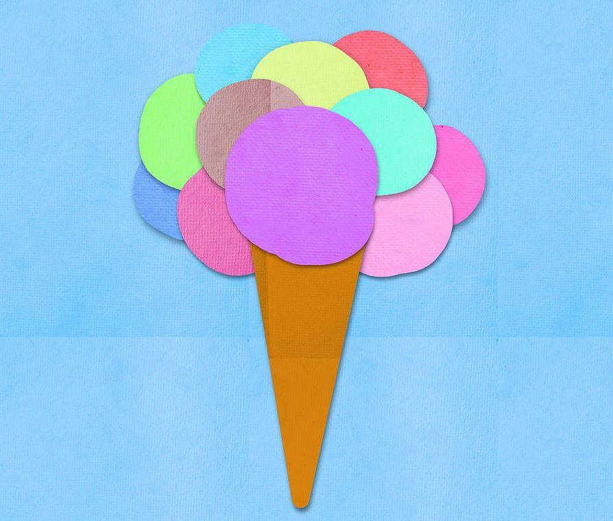 Аппликация мороженое фото