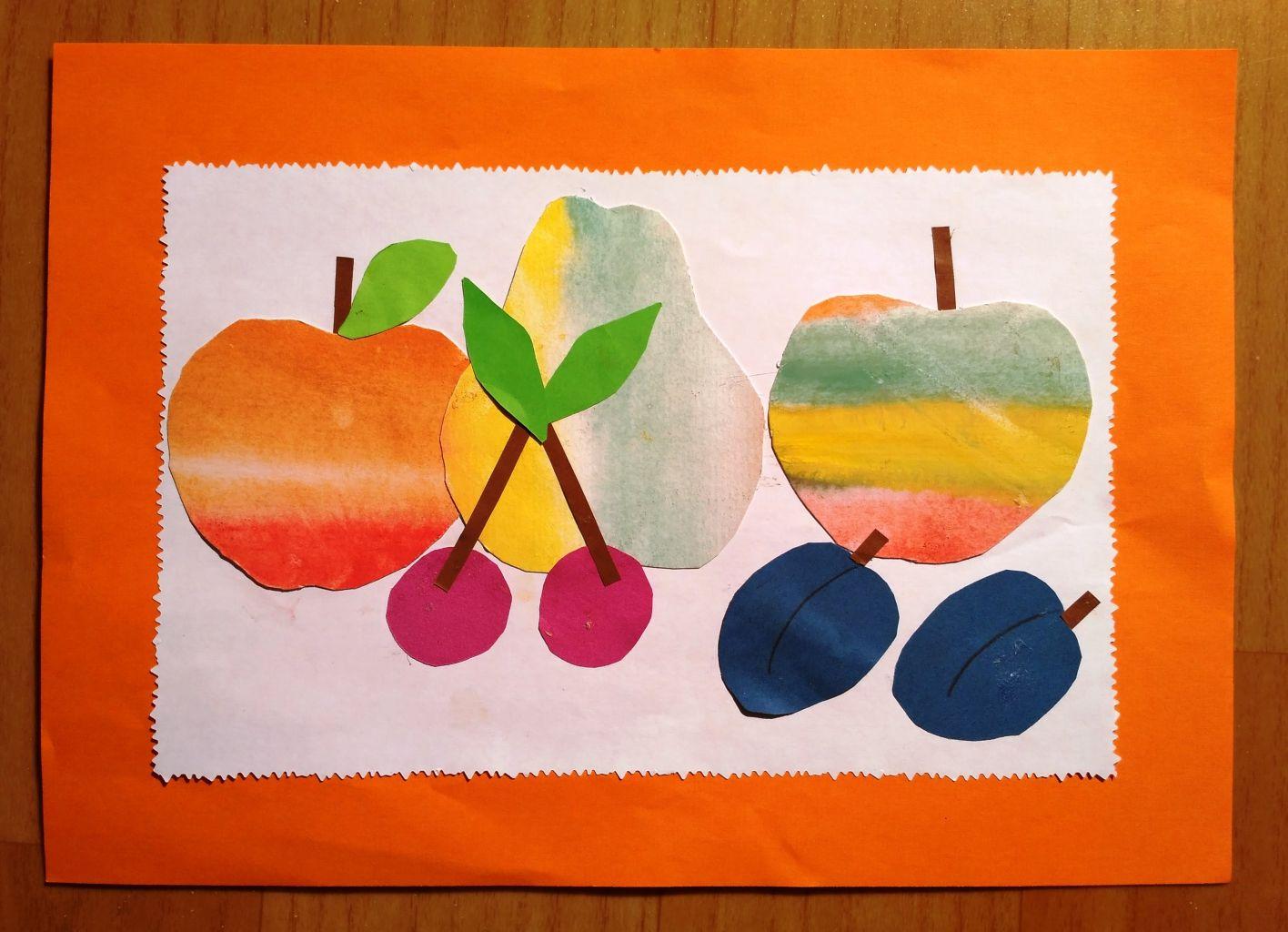 Аппликация натюрморт фрукты фото