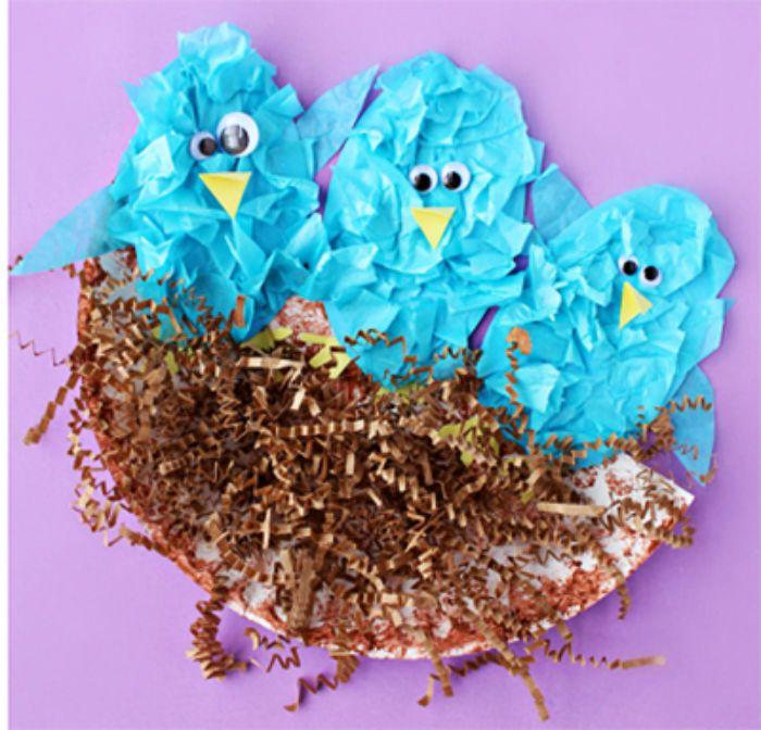 Аппликация гнездо фото