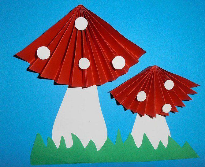 Аппликация объемный гриб фото