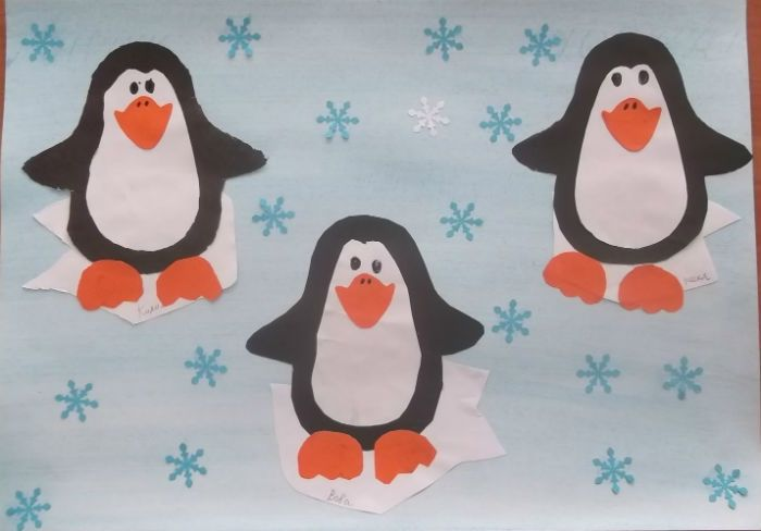 Аппликация пингвины фото