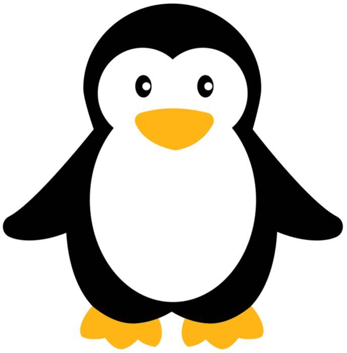 Аппликация пингвины шаблон 1 фото