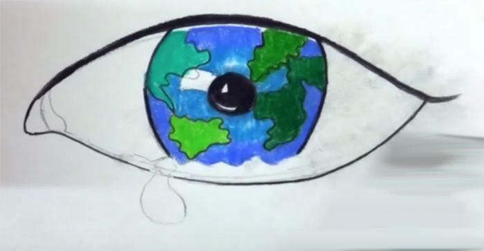 Как нарисовать плакат о природе фото