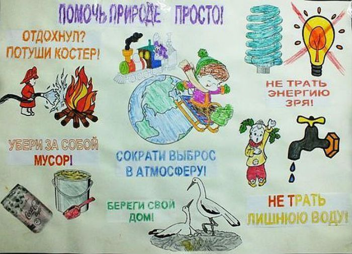Плакаты о экологии рисунок 3 фото