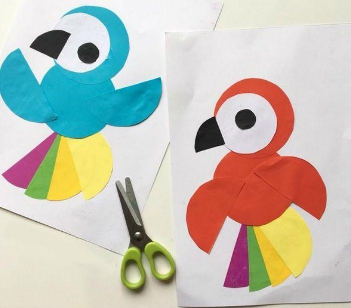 Аппликация попугай фото