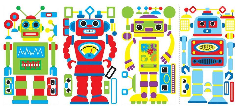 Аппликация робот шаблон фото