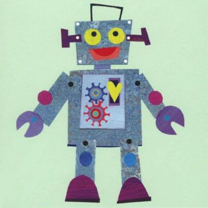 Аппликация робот фото