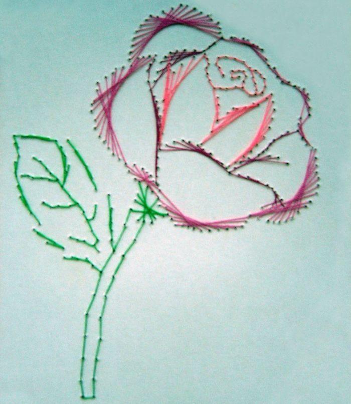Роза изонить фото